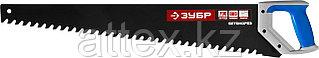 Ножовка по пенобетону (пила) ЗУБР БЕТОНОРЕЗ 700 мм, шаг 20 мм, 32 твердосплавных резца, твердосплавные напайки на каждом зубе, тефлоновое покрытие