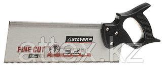 Ножовка для стусла c обушком (пила) STAYER 300 мм, 8 TPI, прямой закаленный зуб, точный рез. 1536-30