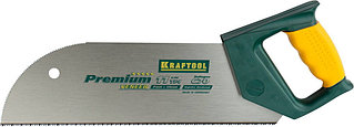 """Ножовка KRAFTOOL """"MULTI-M"""" по фанере, ламинированным материалам, пластмассе, универс зуб, 11TPI, 350мм 15076"""
