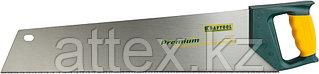 "Ножовка KRAFTOOL ""ALLROUNDER"", 3-х гранный, закал зуб, покрытие Protecflon, двухкомп пластик ручка, 11/12 TPI, 500мм 15074"
