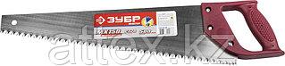 """Ножовка ЗУБР """"МАСТЕР"""" по дереву, прямой крупный зуб, пластиковая ручка, шаг зуба 6,5мм, 4 TPI, 500мм 1525-05-50"""