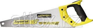 Ножовка универсальная (пила) STAYER SuperCut 400 мм, 7TPI, 3D зуб, рез вдоль и поперек волокон, для средних заготовок из всех видов материалов 1512-40