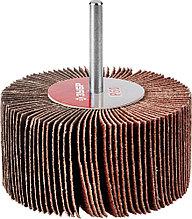 """Круг шлифовальный ЗУБР """"МАСТЕР"""" веерный лепестковый, на шпильке, тип КЛО, зерно-электрокорунд нормальный, P60, 40х80мм 36604-060"""
