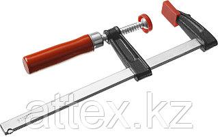 """Струбцина ЗУБР """"СТАНДАРТ"""", тип """"F"""", деревянная ручка, стальная закаленная рейка, 50х200мм 32152-50-200"""