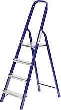 Лестница-стремянка СИБИН стальная, 4 ступени, 82 см 38803-04