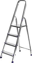 Лестница-стремянка СИБИН алюминиевая, 4 ступени, 82 см 38801-4