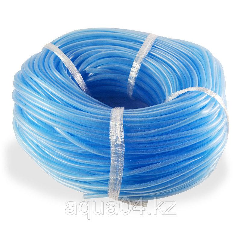 Шланг силиконовый 4 мм (голубой)