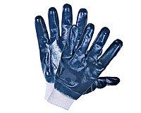 Перчатки нитриловые манжет трикотажный полный облив