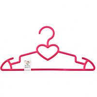 Вешалка сердечко для верхней одежды пластиковая, цветная 41 см. ELFE