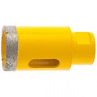 Сверло алмазное по керамограниту, 38 мм, мокрое резание, М14 DENZEL
