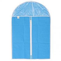 Чехол для хранения одежды на молнии (нетканый материал + ПВХ), 60х90см// ELFE