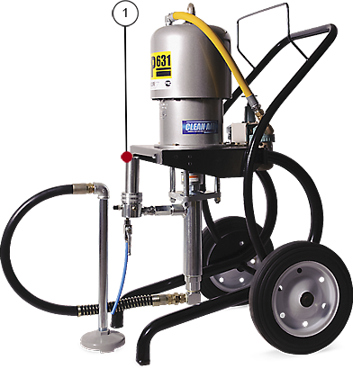 Окрасочный аппарат с пневмоприводом ASP-631