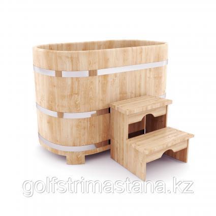 Купель ш*д*в 78*120*120 см / овальная / кедровая