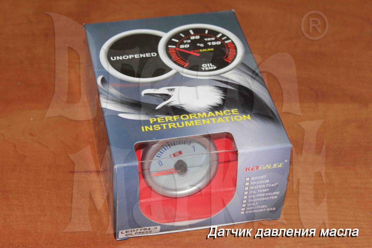 Датчик давления масла KETGAUGE LED7704-3, стрелочный, подсветка, диаметр 52 мм
