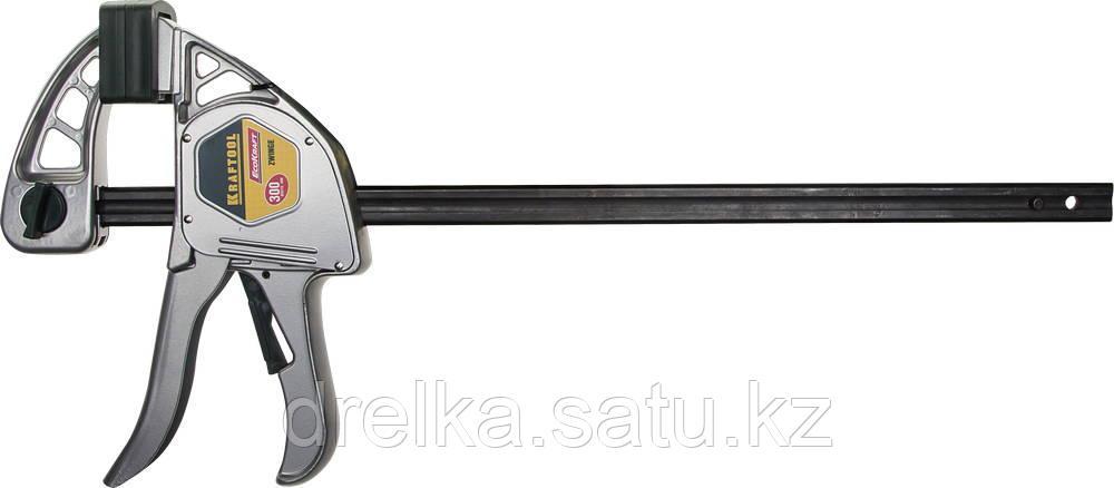 """Струбцина """"EcoKraft"""" ручная пистолетная, KRAFTOOL 32228-30, металлический корпус, 300/500мм, 200кгс"""