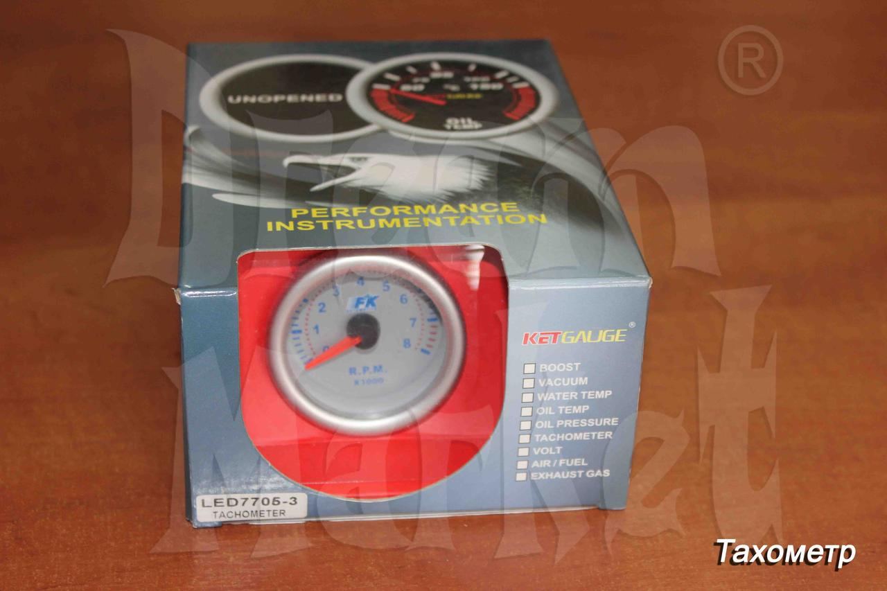 Тахометр KETGAUGE 7C7705-1, стрелочный, подсветка, диаметр 52 мм