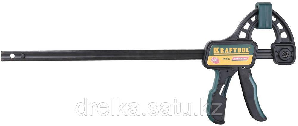 """Струбцина """"EcoKraft"""" ручная пистолетная, KRAFTOOL 32226-30, пластиковый корпус, 300/500мм, 150кгс"""