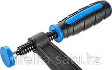 """Струбцина ЗУБР """"ПРОФЕССИОНАЛ"""", тип """"F"""", двухкомпонентная ручка, стальная закаленная рейка, 80х300мм, фото 2"""
