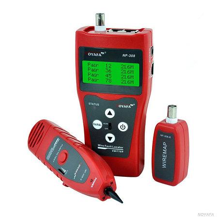 Многофункциональный кабельный LAN тестер NF-308 (RJ11+RJ45, USB, COAX, WIREMAP)+тон генератор+датчик, фото 2