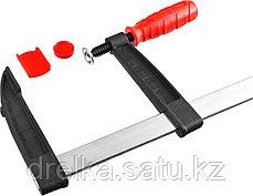 """Струбцина ЗУБР """"МАСТЕР"""", тип """"F"""", пластмассовая ручка, стальная закаленная рейка, 120х500мм, фото 3"""