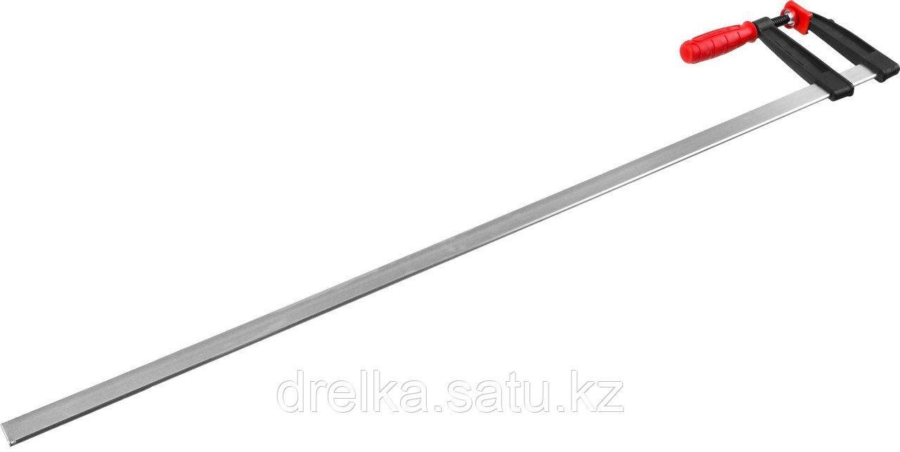 "Струбцина ЗУБР ""МАСТЕР"", тип ""F"", пластмассовая ручка, стальная закаленная рейка, 120х1000мм"