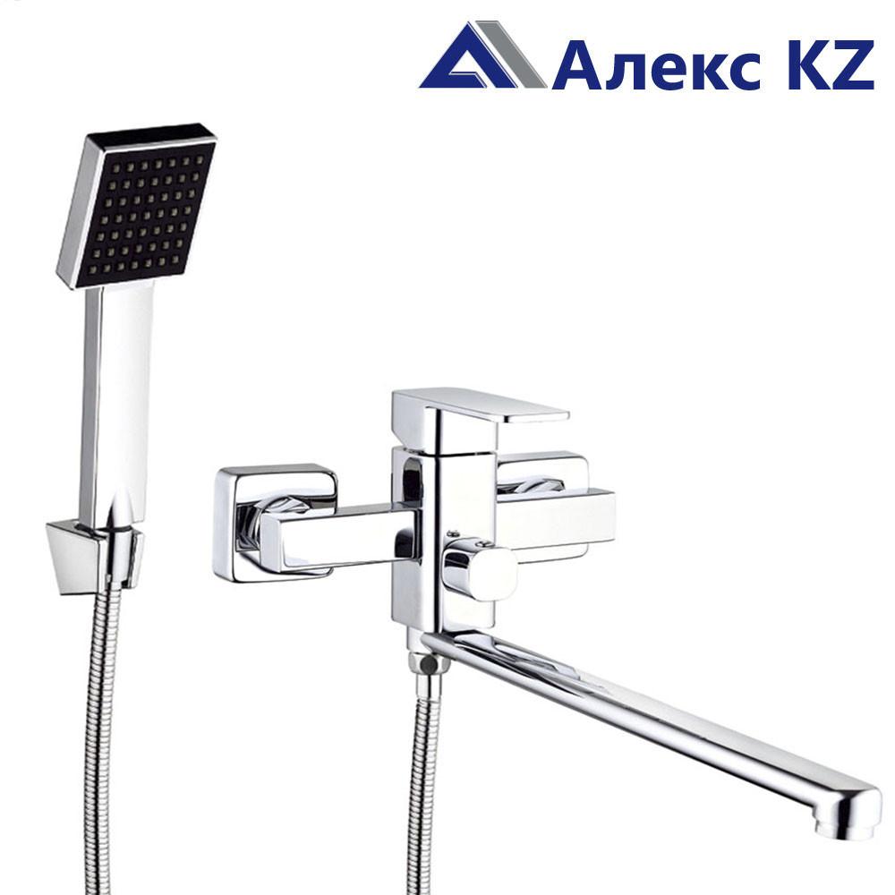 Смеситель  для ванны, одноручный, с поворотным изливом  ZEGOR LEB7-В123