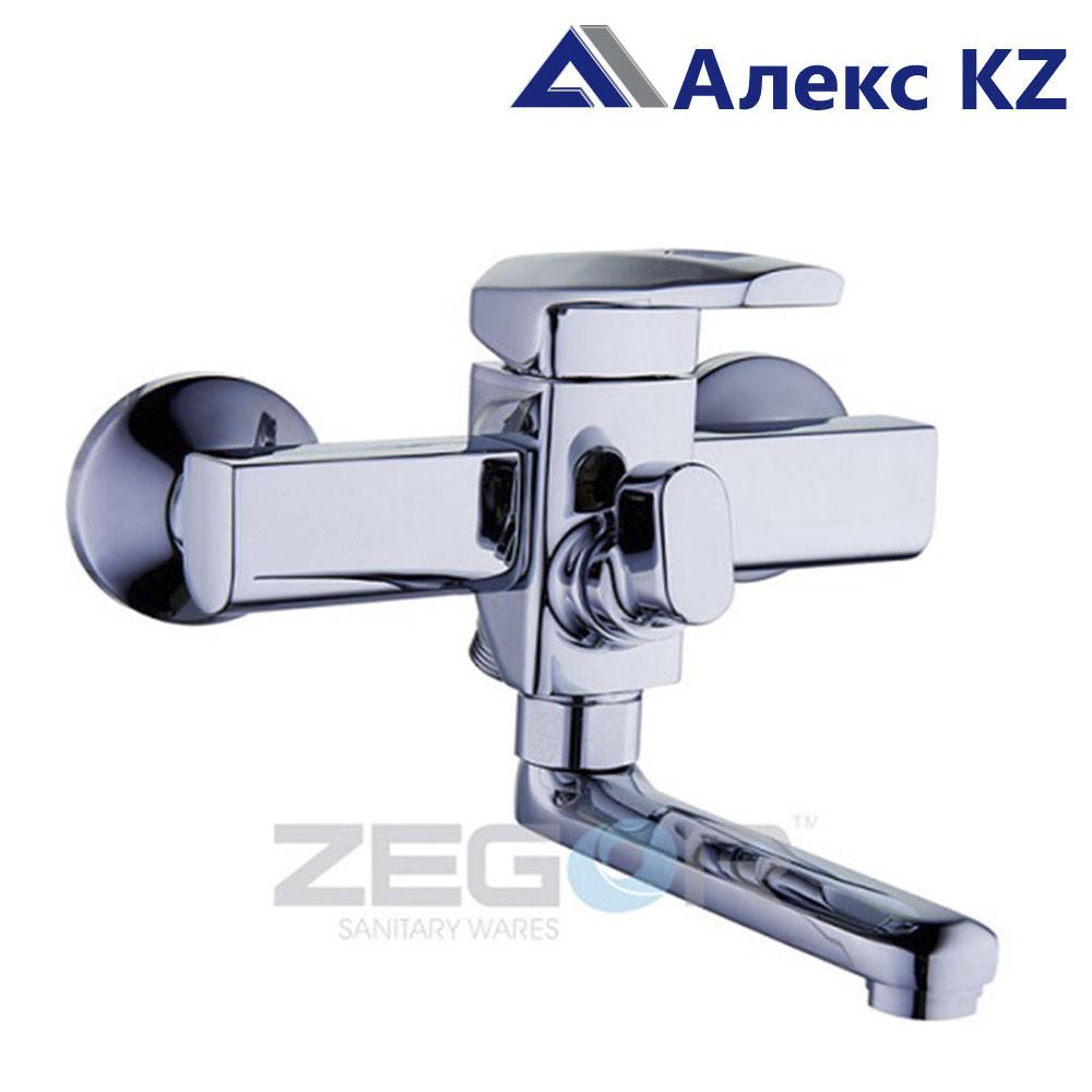 Cмеситель для ванны, одноручный, с литым поворотным изливом  ZEGOR NOF3-A033
