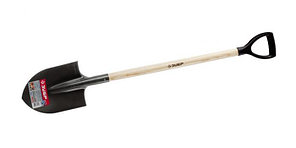 """Лопата ЗУБР """"МАСТЕР"""" ФАВОРИТ штыковая, деревянный черенок из ясеня, пластиковая рукоятка, 290х205х1200мм"""