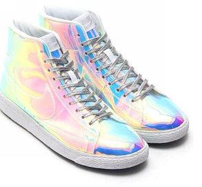 Зеркальные кроссовки Nike  Blazer Mid в Алматы, фото 2