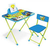 Набор мебели Ника Мультики стол+пенал+стул Зверополис Д2З