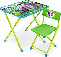 Набор детской мебели Ника Тролли стол+мягкий стул Т-2, фото 1