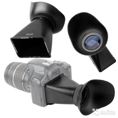Видеоискатели, наглазники, защитные стекла для ЖК дисплеев Canon, Nikon