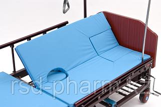 МЕТ REMEKS Медицинская кровать для ухода за лежачими больными с переворотом, туалетом и матрасом, фото 2