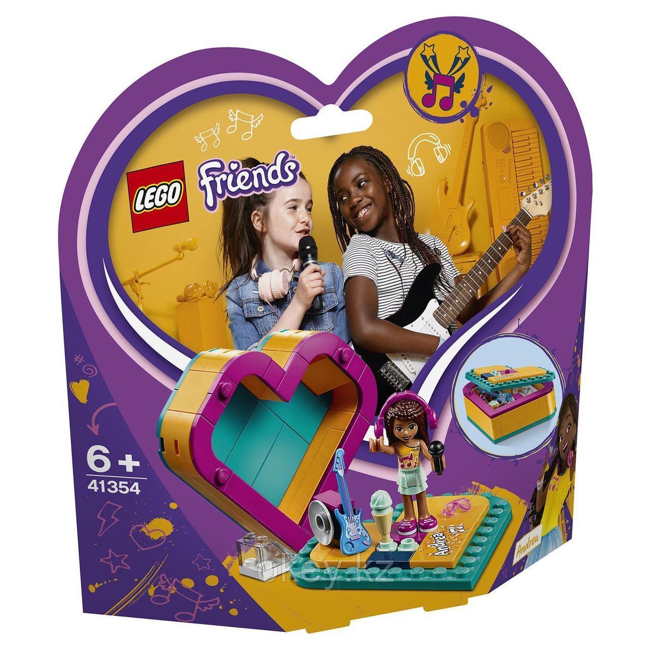 LEGO Friends: Шкатулка-сердечко Андреа 41354