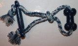 Веревочная Игрушка перетяжка с двумя косточками, 30 см, фото 1