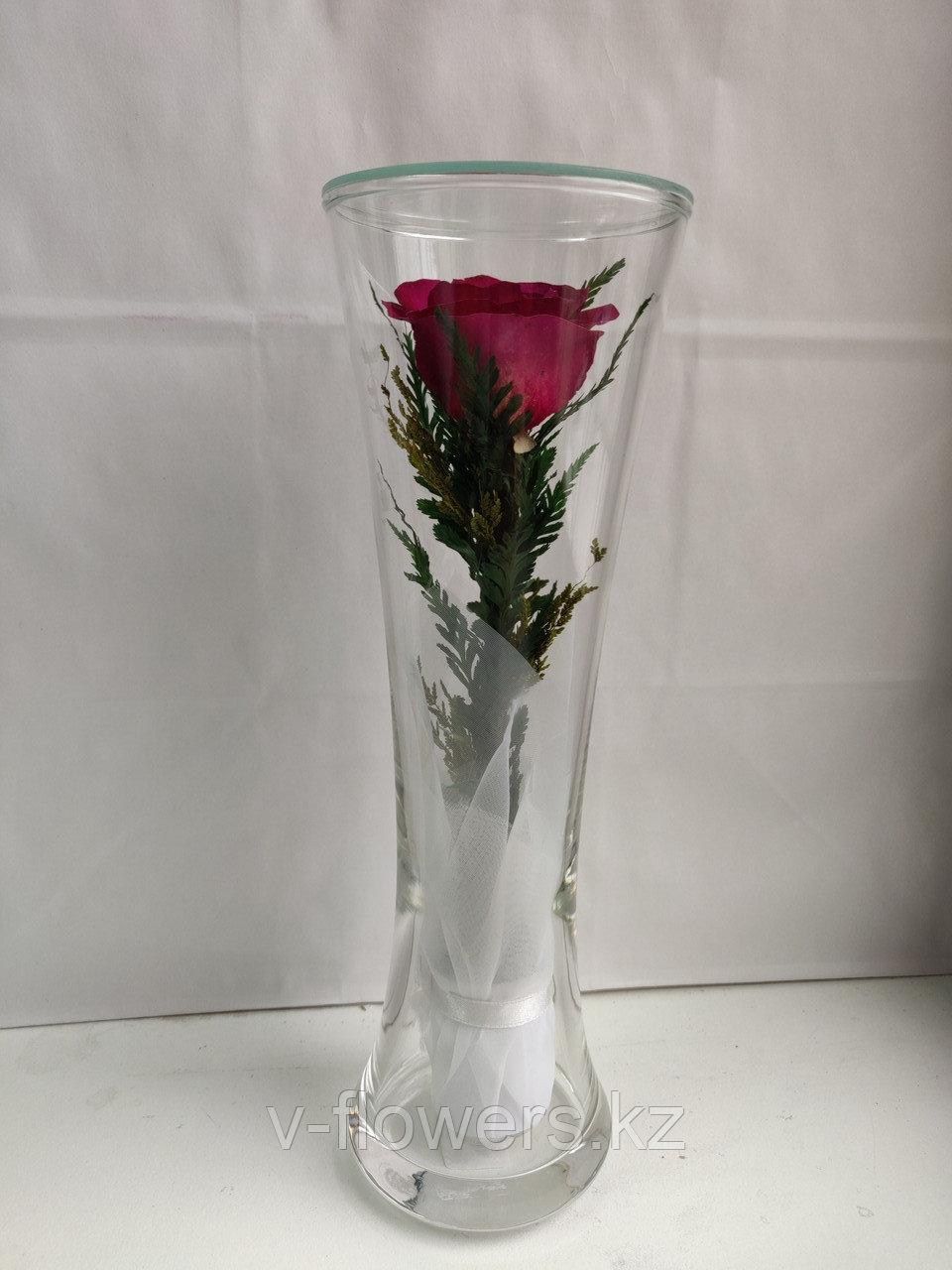 Живые цветы в стекле CuHRp-2