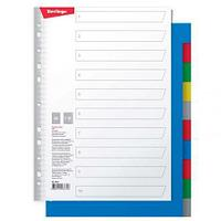 Разделитель листов Berlingo А4, 10 листов, без индексации, цветной, пластиковый ARp_04040