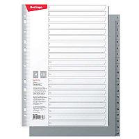 Разделитель листов Berlingo А4, 20 листов, цифровой 1-20, серый, пластиковый ARp_04070