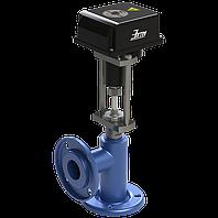 КЗРУС, Клапан запорно-регулирующий угловой стальной с электроприводом