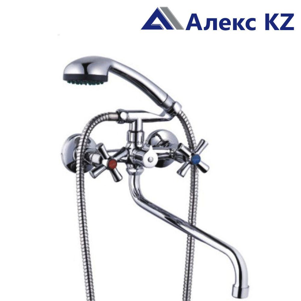 Смеситель   для ванны, двуручный, с круглым изливом ZEGOR DMT7-А722