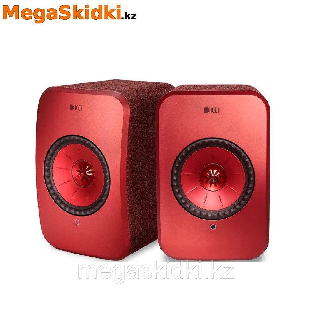 Беспроводная активная полочная акустика KEF LSX красный