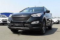 Решётка радиатора с металлической сеткой Hyundai Santa Fe New 2013-