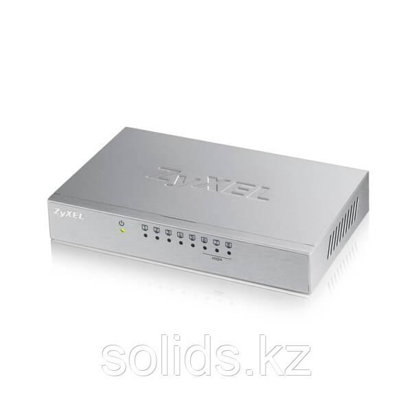 Коммутатор Zyxel 8 портов 100 Мбит/с настольный металлический корпус