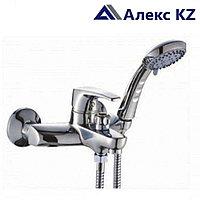 Смеситель KOLAG 1224 одноручный для ванны с коротким изливом, дивертор кнопочный