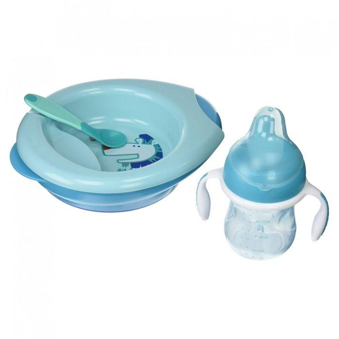 Chicco: Набор детской посуды (тарелка, ложка, поильник) 6м+,в ассортименте