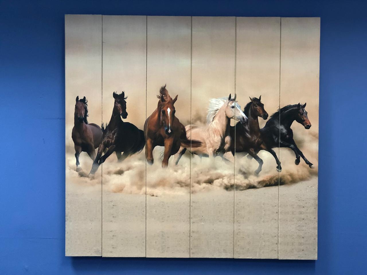 Картина «Скакуны» 60×60 см