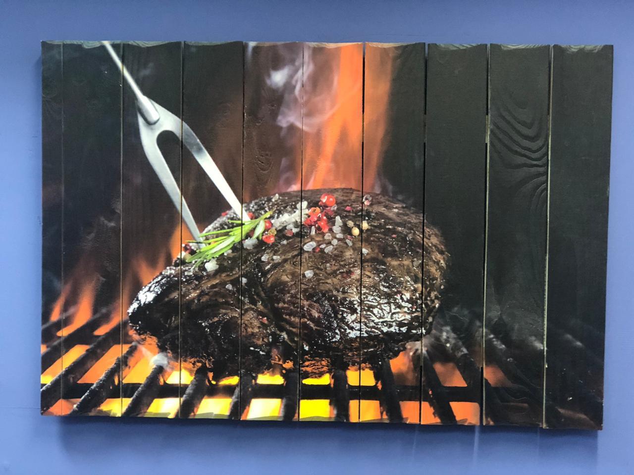 Картина «Стейк» 90×60 см