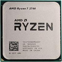 Процессор AMD Ryzen 7 2700, oem CPU 3.2GHz (Pinnacle Ridge, 4.1), 8C/16T, YD2700BBM88AF, 4/16MB, 65W, AM4