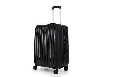 Пластиковый чемодан на колесах Hippo 78 л Черный