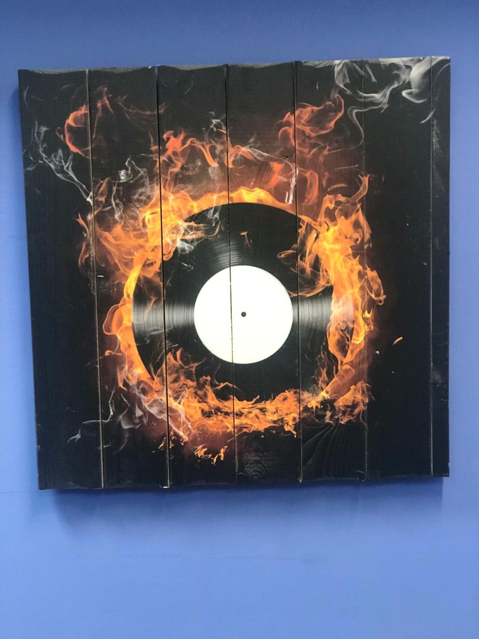 Картина «Виниловая пластинка» 60×60 см